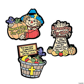 Color Your Own Harvest Fuzzy Inspirational Magnets
