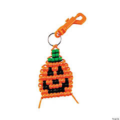 Pumpkin Pony Bead Clip Craft Kit