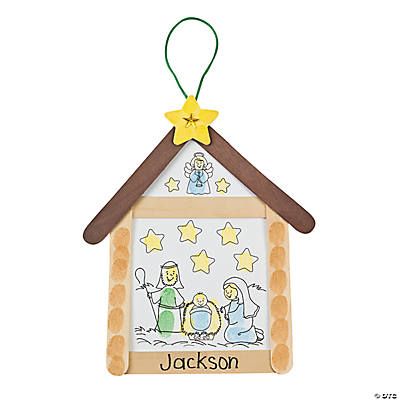 Nativity Thumbprint Sign Craft Kit
