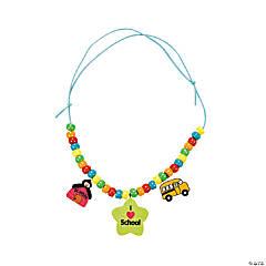 "12 ""I Love School"" Necklaces Craft Kit"