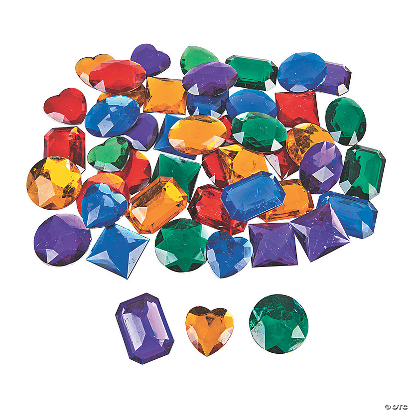 Giant self adhesive jewels