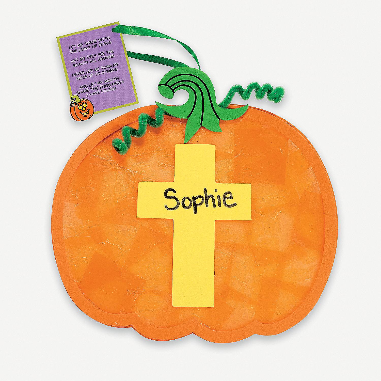 Christian pumpkin tissue paper craft kit oriental for Craft kits for preschoolers