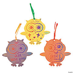 Magic Color Scratch Fall Owl Ornaments