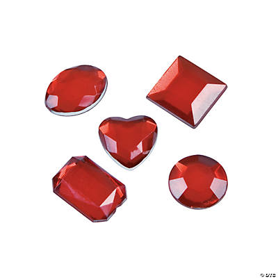 Adhesive Jewels - Red