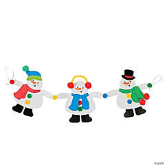 Snowman Garland Craft Kit