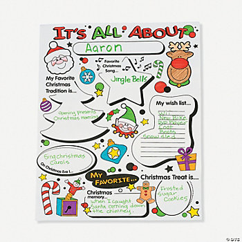 "Color Your Own ""All About Christmas"" Posters"