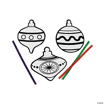 Color Your Own Fuzzy Ornaments