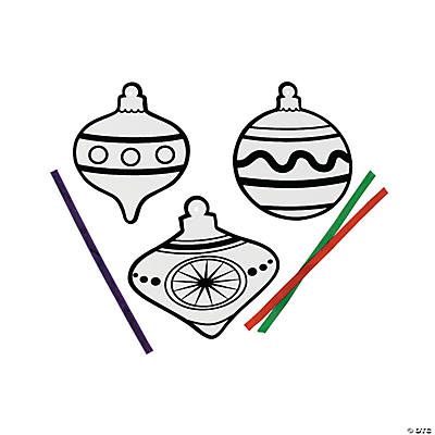 Color Your Own Fuzzy Christmas Ornament