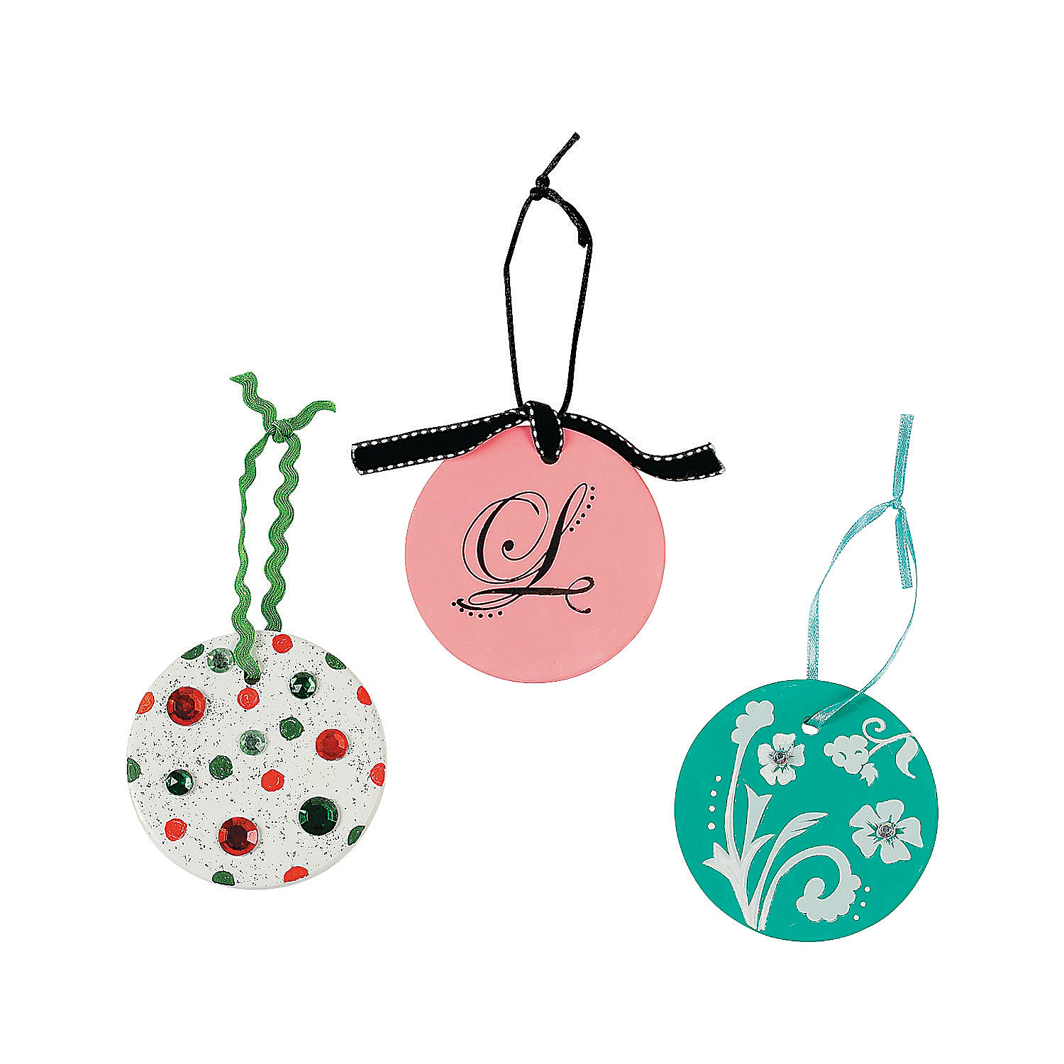 DIY Ceramic Round Christmas Ornaments - Oriental Trading