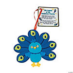 Peacock Christmas Ornament with Poem Craft Kit