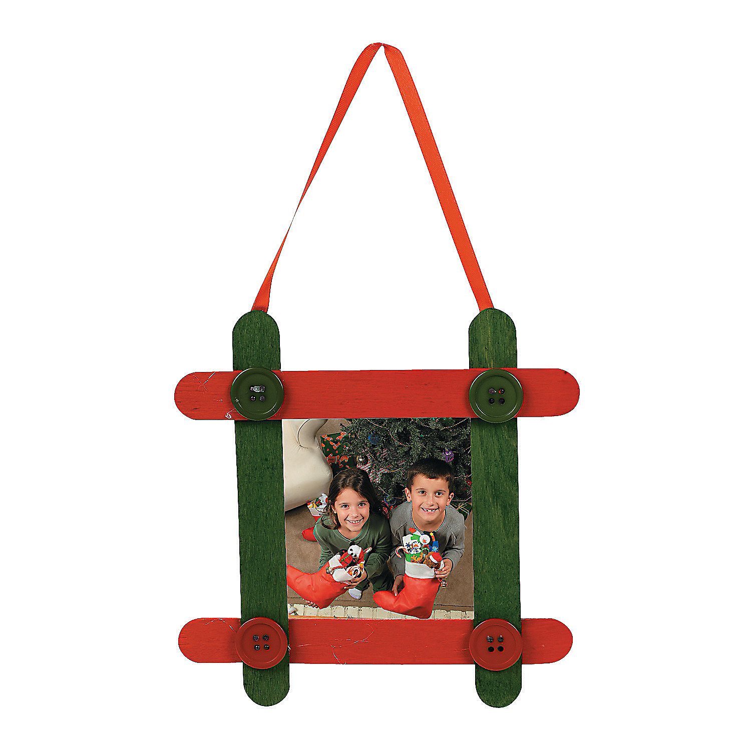 craft stick picture frame christmas ornament craft kit On christmas picture frame craft