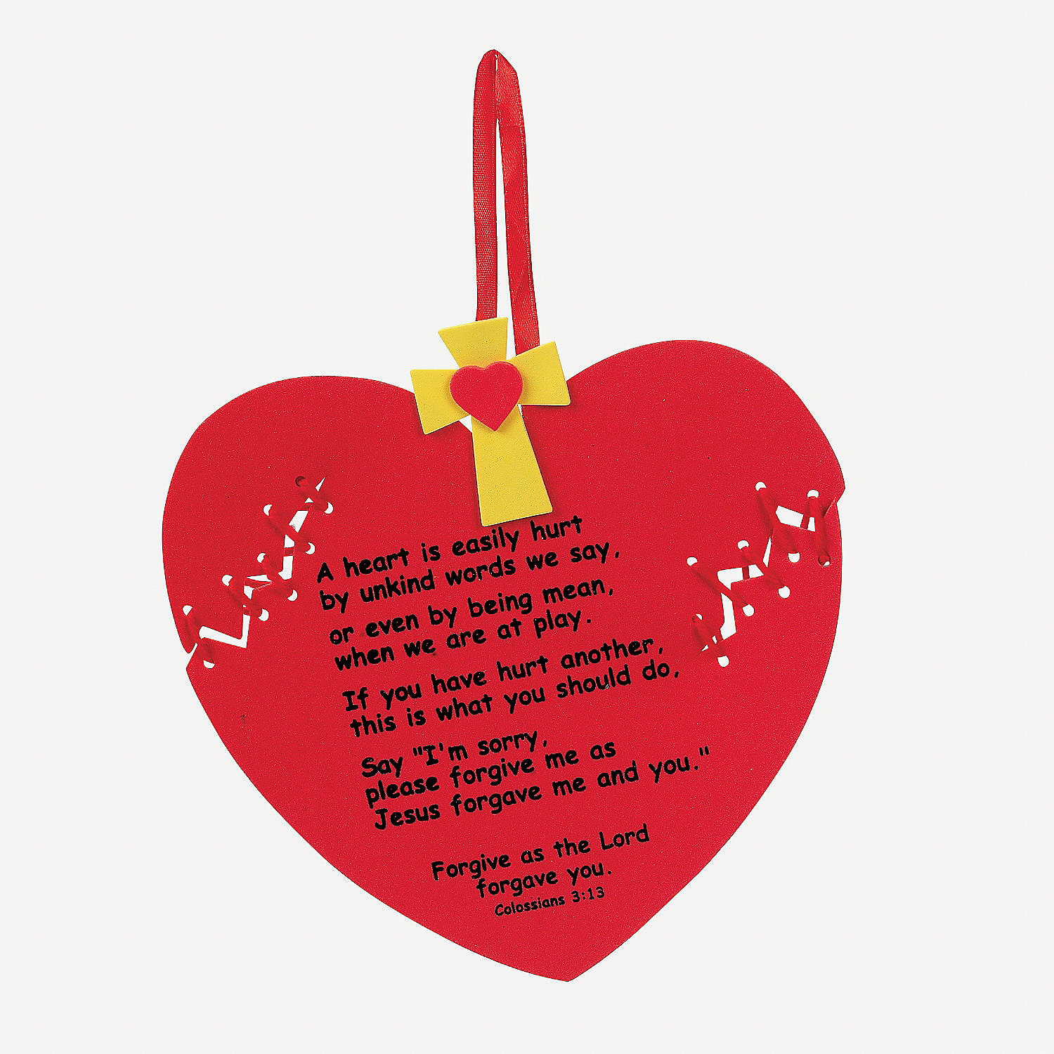 valentines day preschool quotes - Forgiveness Heart Craft Kit Oriental Trading Discontinued