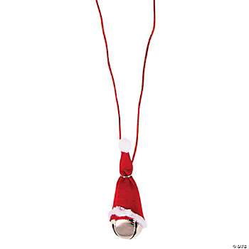 Santa Hat Jingle Bell Necklace Craft Kit