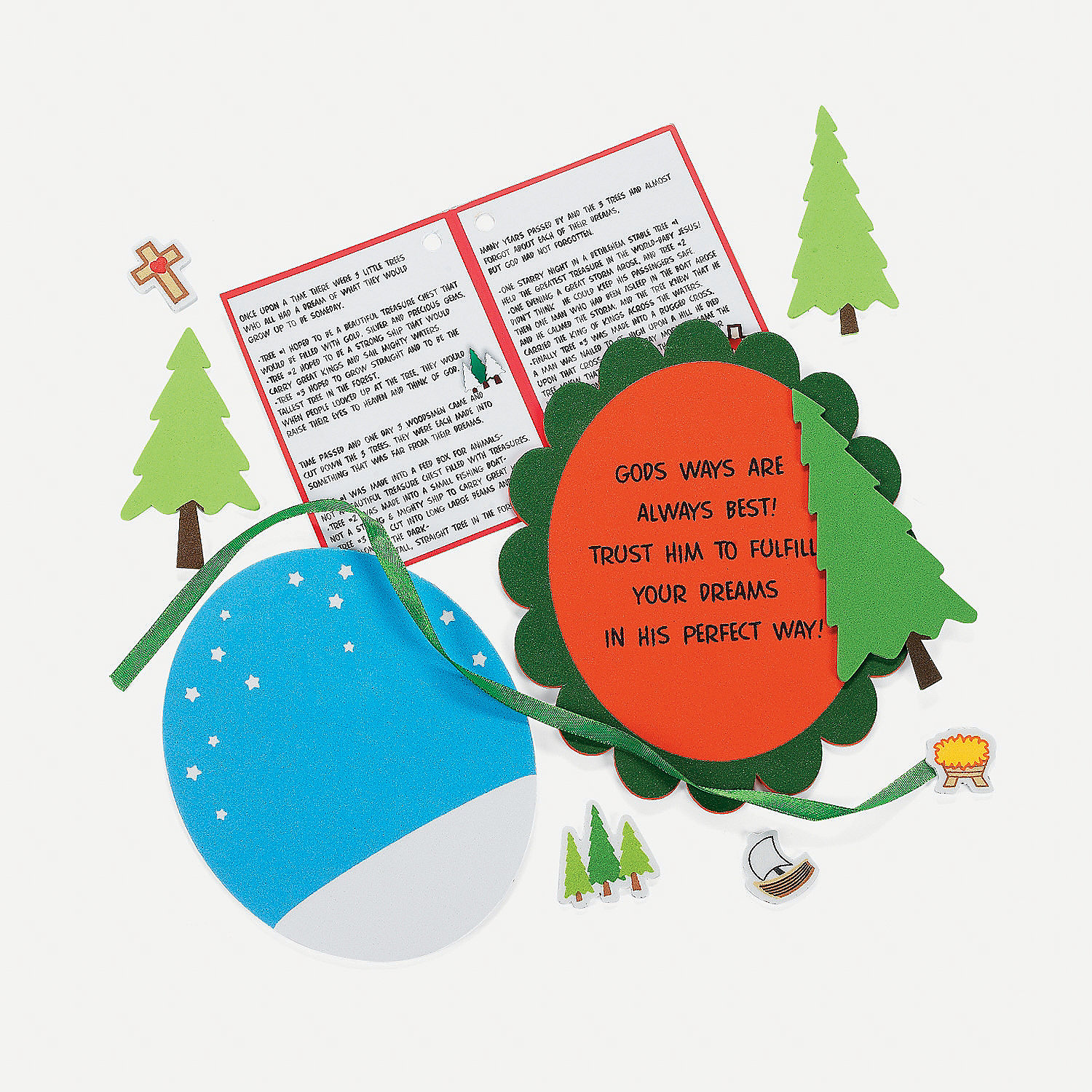Legend Of The Christmas Tree Poem: Legend Of The 3 Trees Christmas Ornament With Poem Craft