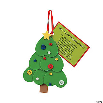Heart Christmas Tree Ornament with Poem Craft Kit ...