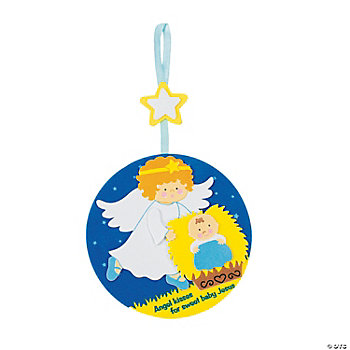 Angel Kissing Baby Jesus Ornament Craft Kit