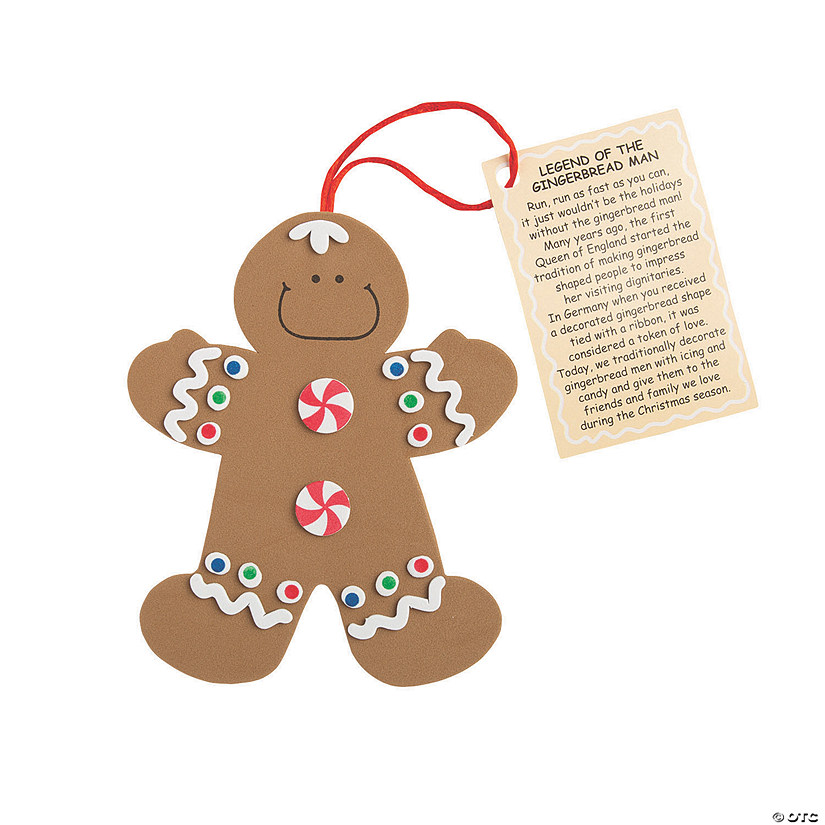 Legend Of The Gingerbread Man Christmas Ornament Craft Kit