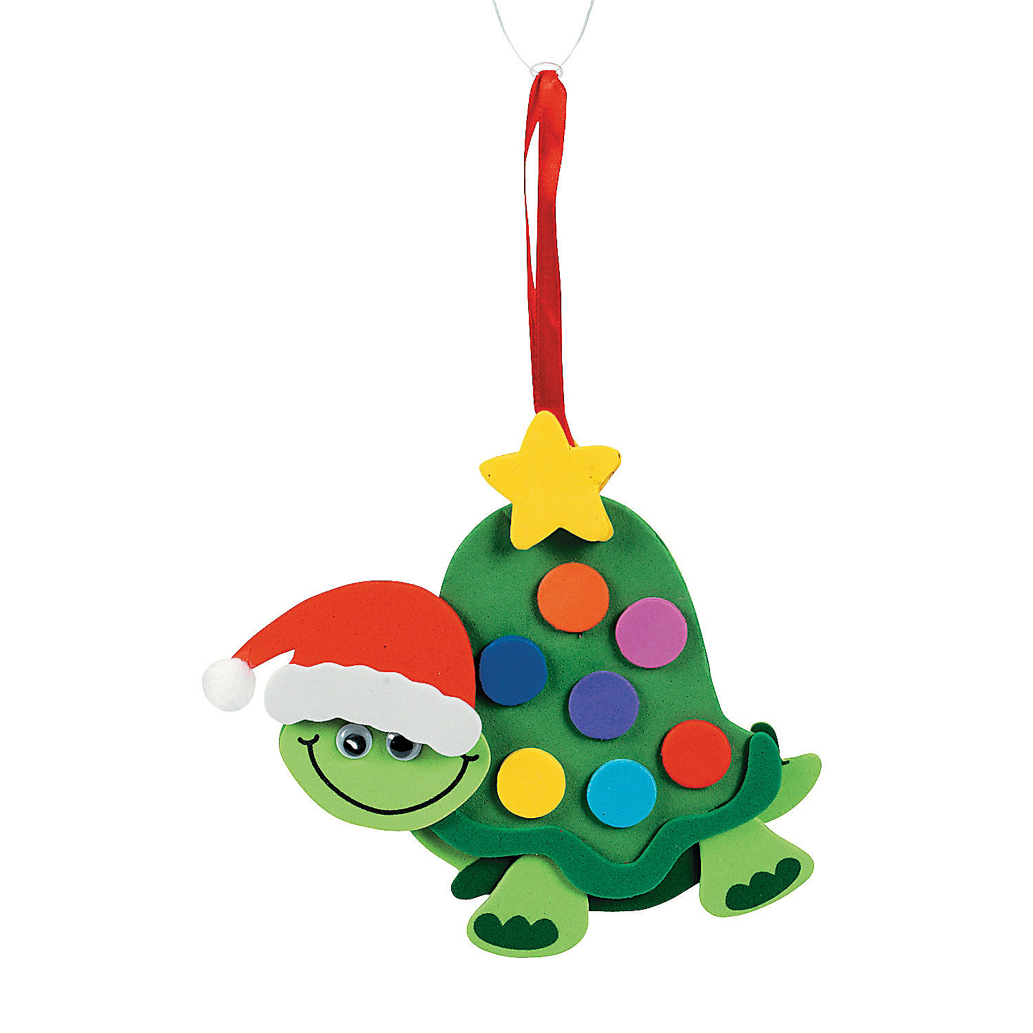Turtle christmas ornament craft kit oriental trading for 2 year old christmas ornaments crafts