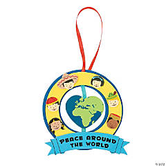 """Peace Around The World"" Ornament Craft Kit"