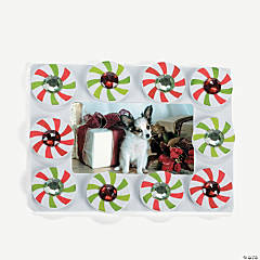 Peppermint Candy Picture Frame Magnet Craft Kit