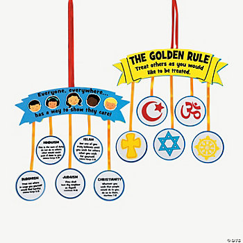 """Golden Rule"" Sign Craft Kit"
