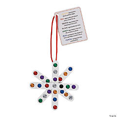 Colors of Faith Craft Stick Snowflake Ornament with Card Craft Kit