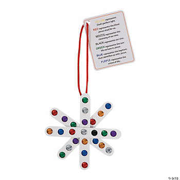 """Colors Of Faith"" Craft Stick Snowflake Ornament With Card Craft Kit"