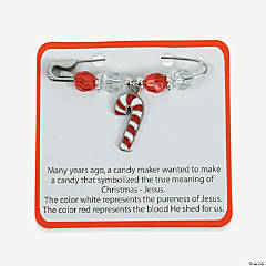 Candy Cane Charm Pin Craft Kit With Card