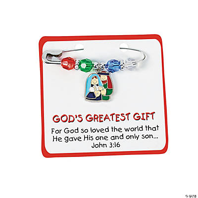 """God's Greatest Gift"" Pin Craft Kit"