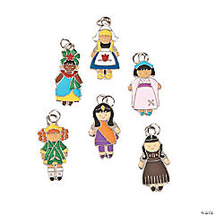 Kids Around The World Enamel Charms