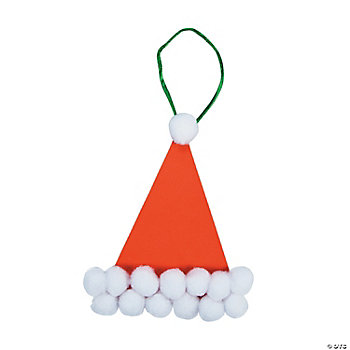 Pom-Pom Santa Hat Ornament Craft Kit