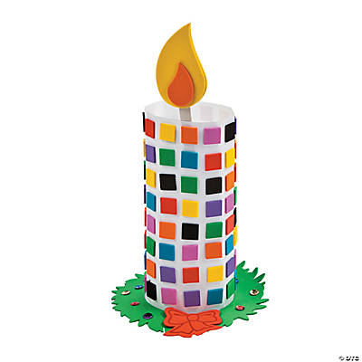 Mosaic Candle Craft Kit