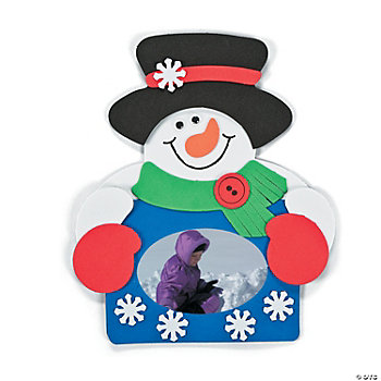 Snowman Photo Frame Magnets Craft Kit