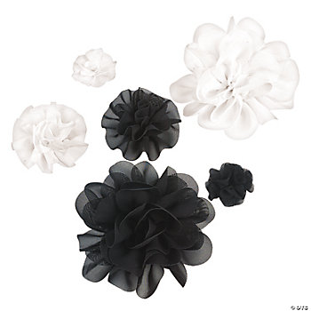Black & White Monochromatic Flowers