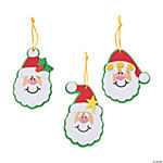 Simple Santa Christmas Ornament Craft Kit - Makes 50