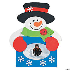 Snowman Picture Frame Magnet Craft Kit - Makes 50