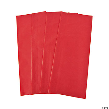 60 Red Tissue Paper Sheets