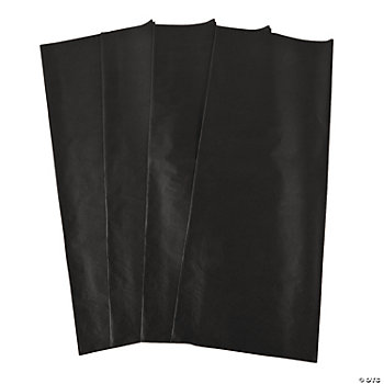 60 Black Tissue Paper Sheets