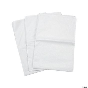 60 White Tissue Paper Sheets