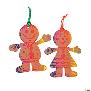 Magic Color Scratch Gingerbread Ornaments