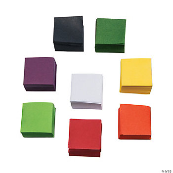 Mini Fall Tissue Paper Squares