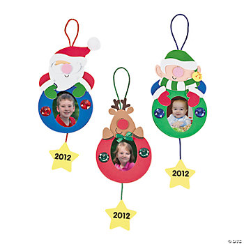2012 holiday ornament picture frame craft kit oriental for Photo frame ornament craft