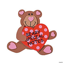 """Beary Special"" Note Clip Magnet Craft Kit"