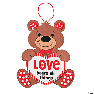 """Love Bears All Things"" Sign Craft Kit"