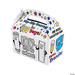 Color Your Own 100th Day of School Treat Boxes