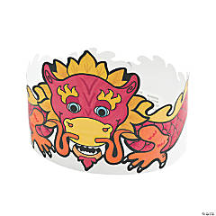 Color Your Own Chinese New Year Crowns