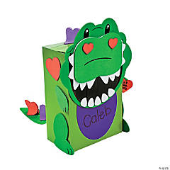 Dino Valentine Card Holder Craft Kit