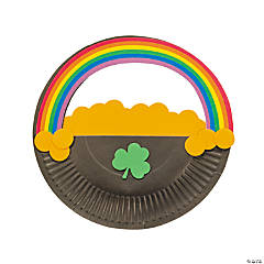 Paper Plate Pot of Gold Rainbow Craft Kit