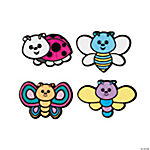 Color Your Own Bug Fuzzy Magnets