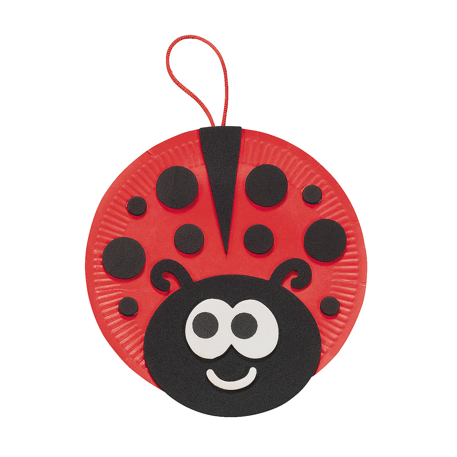 Christmas art and craft ideas thumbprint - Paper Plate Ladybug Craft Kit In 48 7508 Our Paper Plate Ladybug Craft